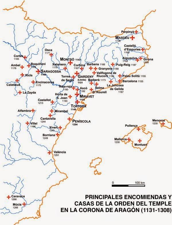 mapa temple corona aragon